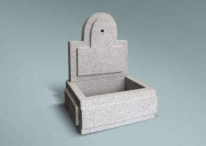 Fuente de granito rectangular