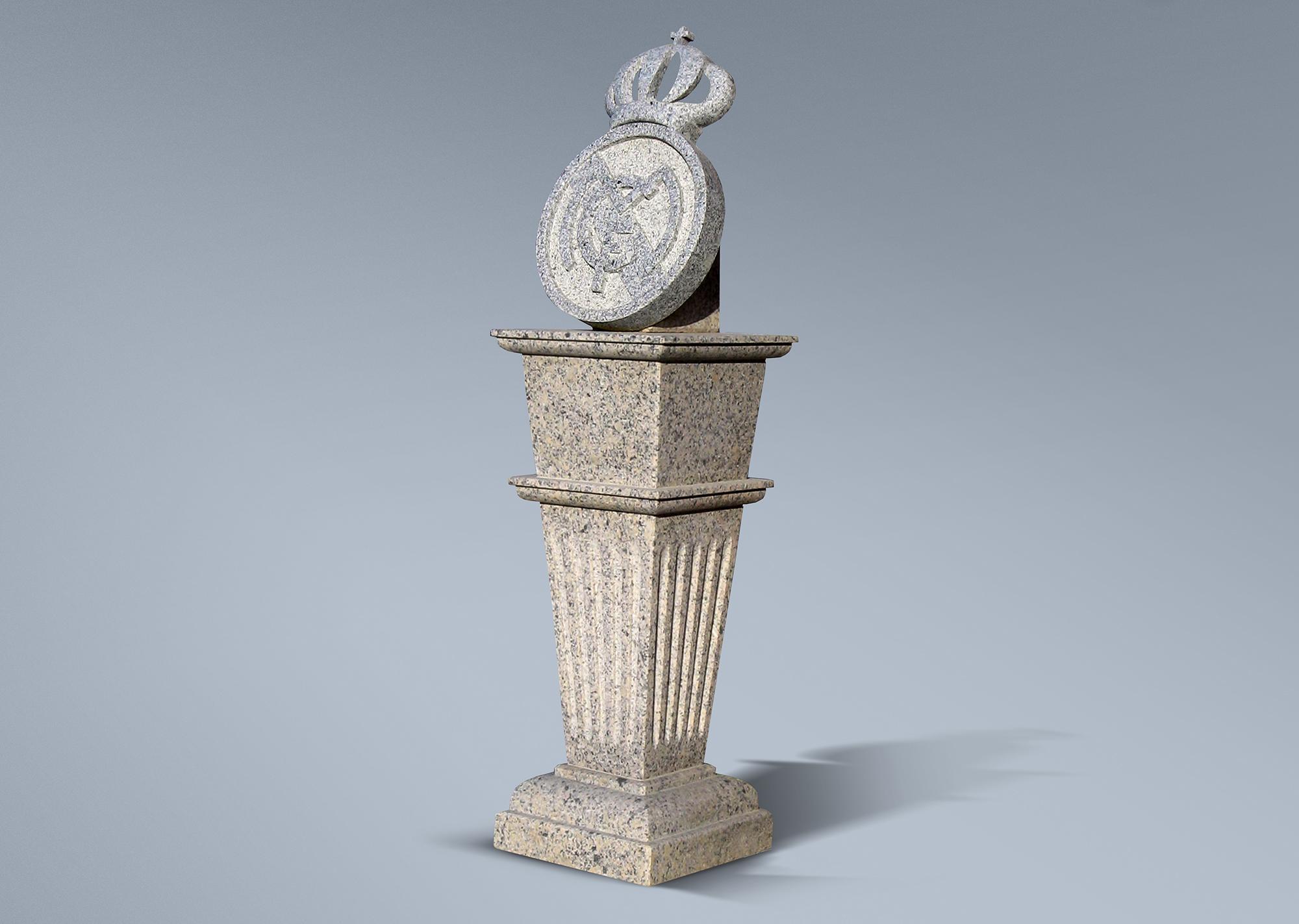 Escudo con pedestal