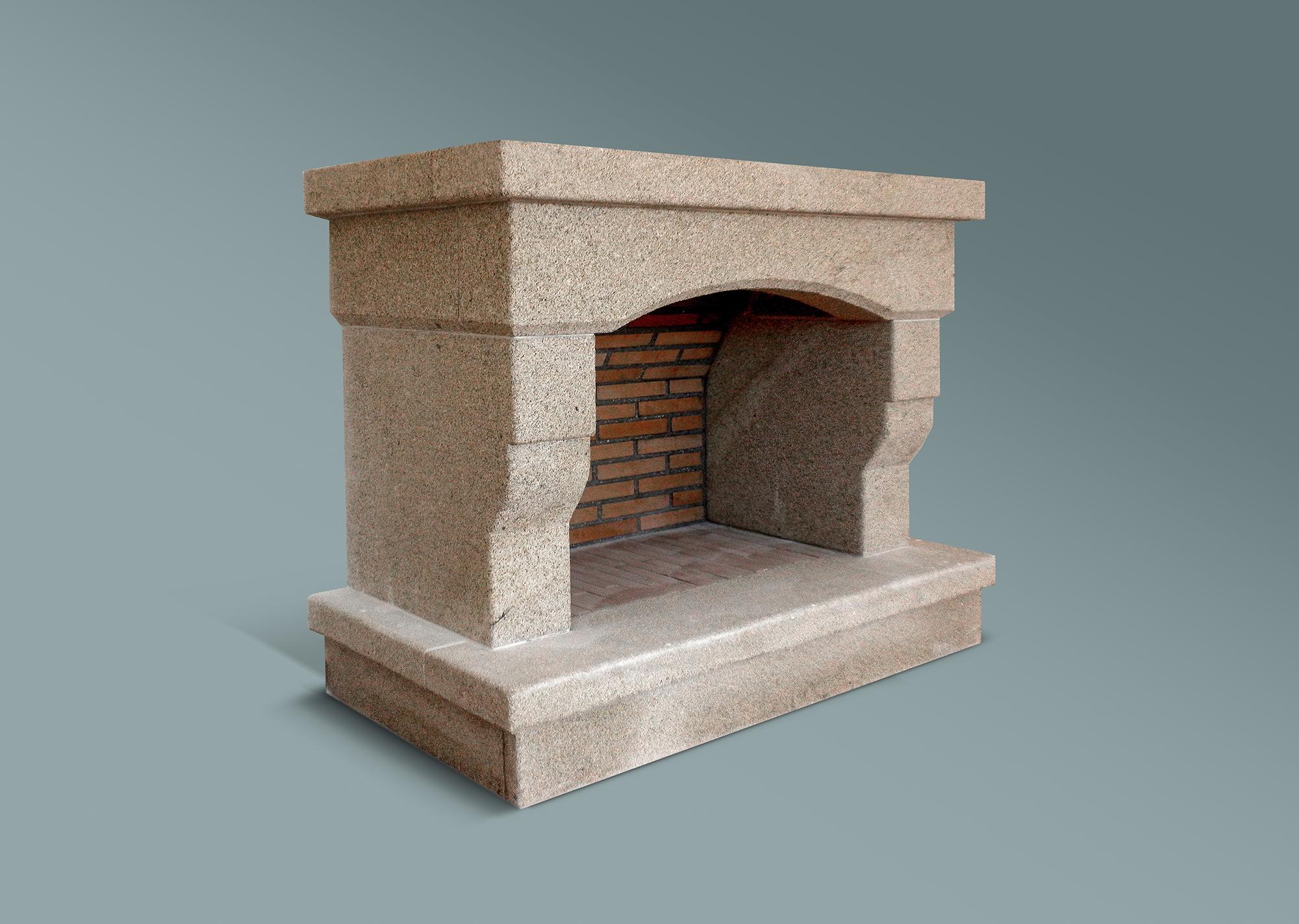 Construcci n chimenea de granito amarillo en piedra arteroca for Granito en piedra