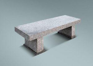 Banco rectangular de granito