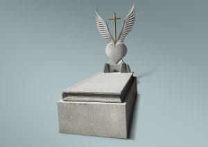 Panteón con corazón y alas