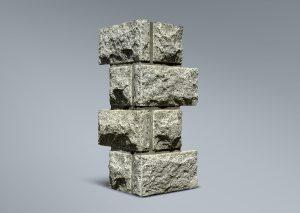 Esquina rústica en granito
