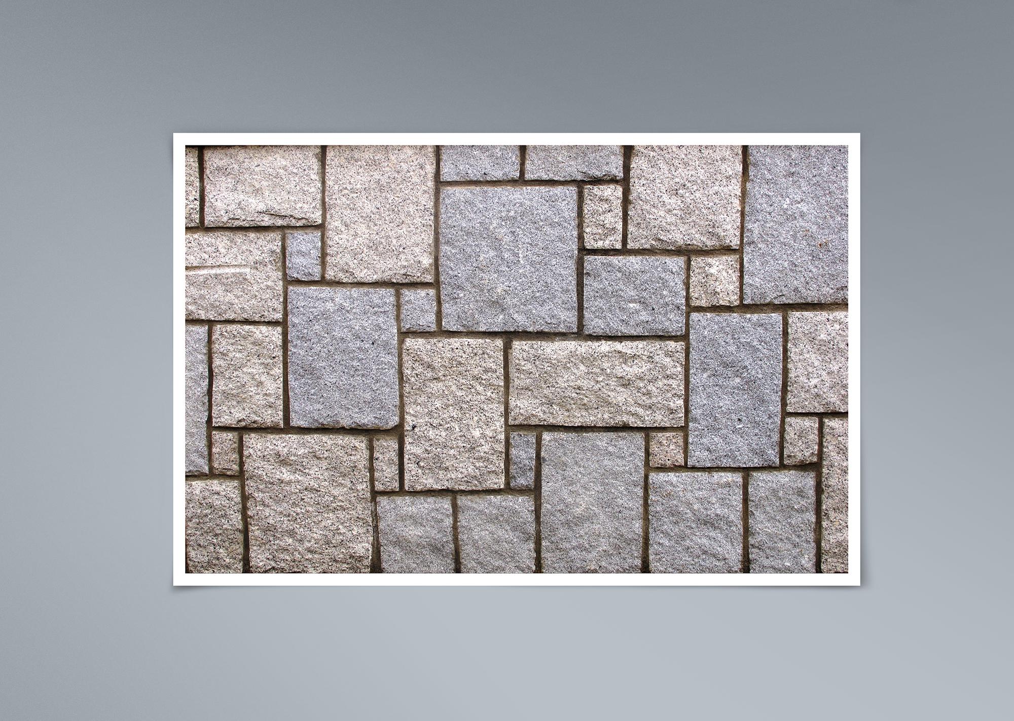 Muro rústico de granito a berrugo