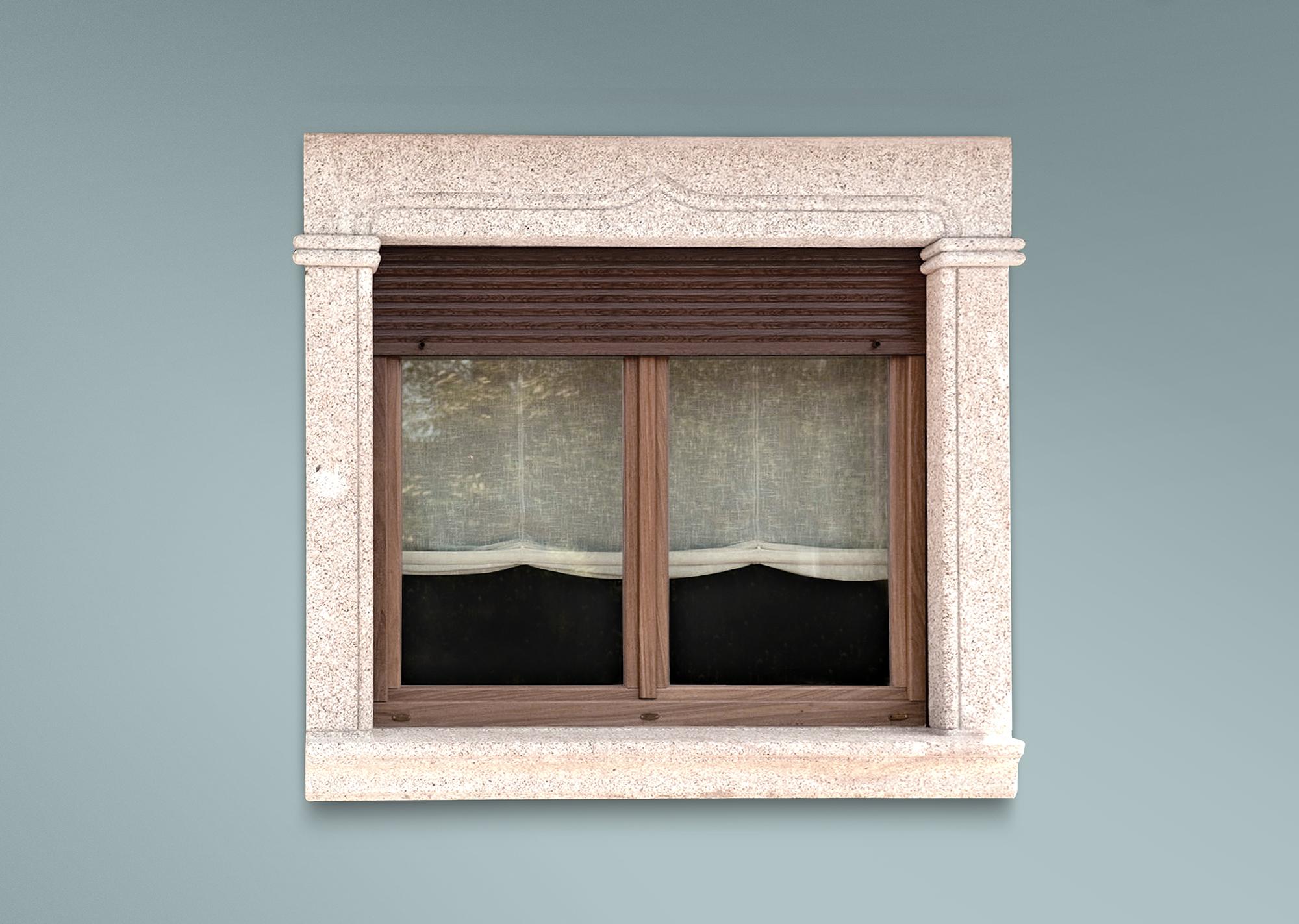 Recercado moldurado para ventana