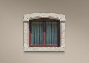 Recercado de ventana con moldura