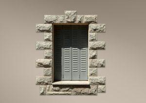 Recercado rústico para ventana