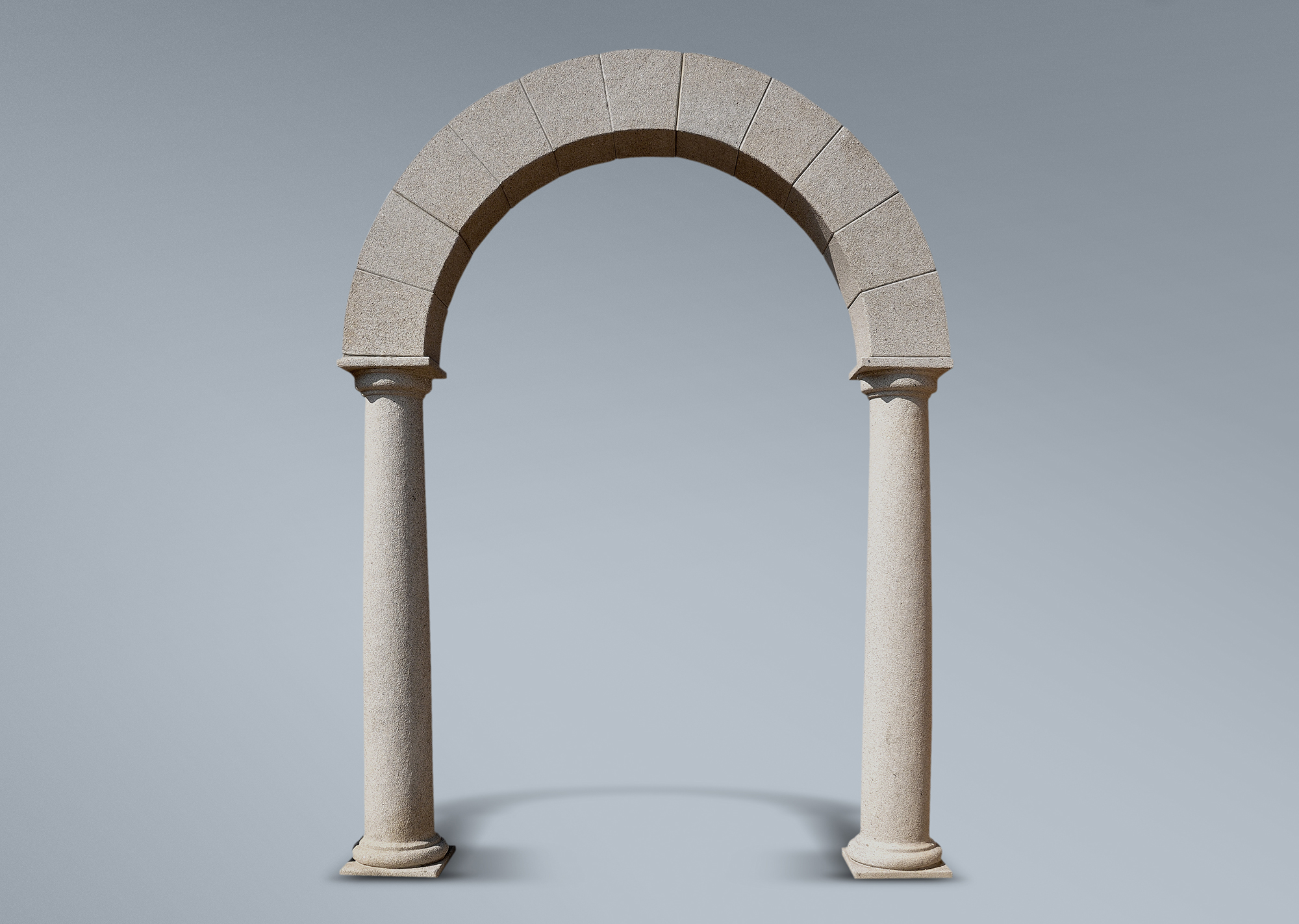 Arco sobre doble columna