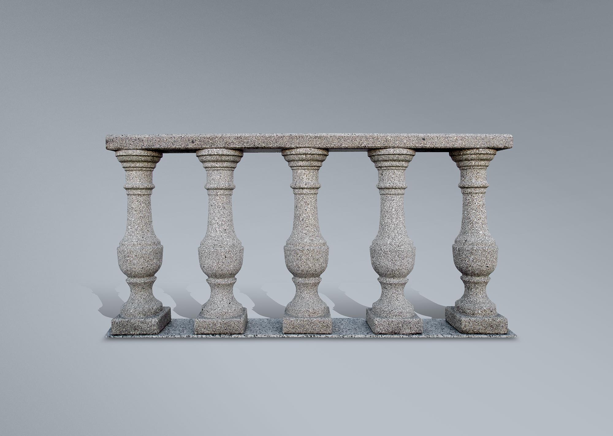 Balaustrada de granito arenado