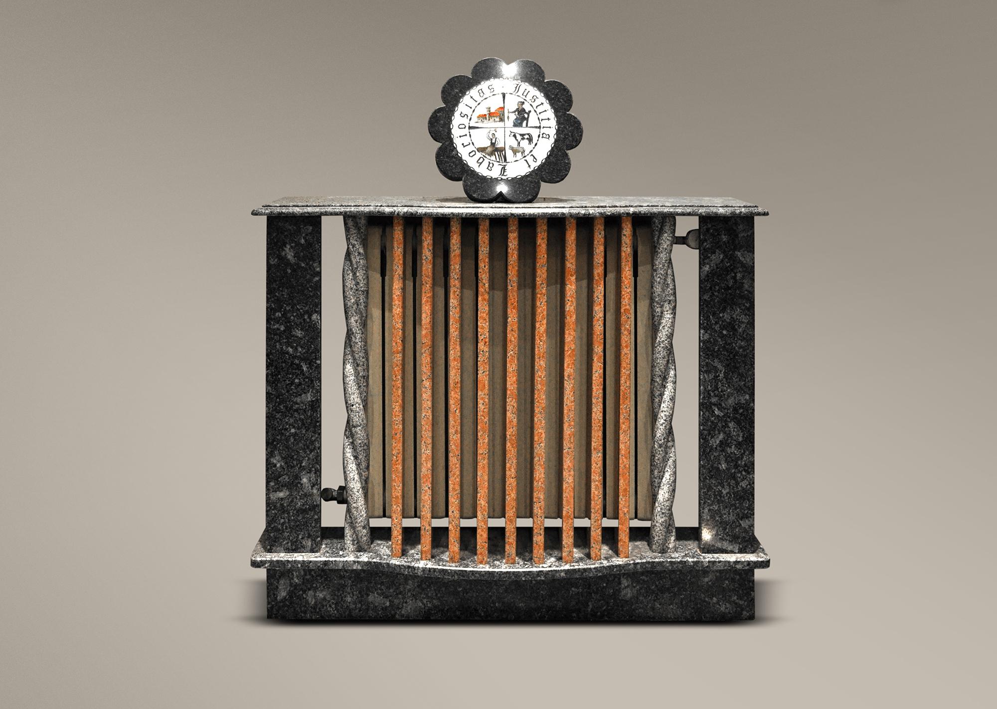 Cubreradiador con escudo