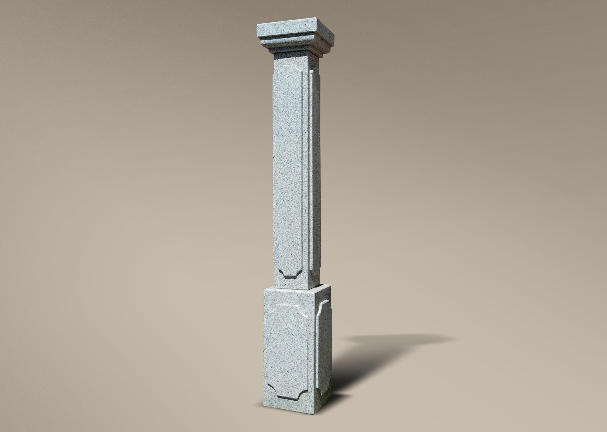Columna de granito gris