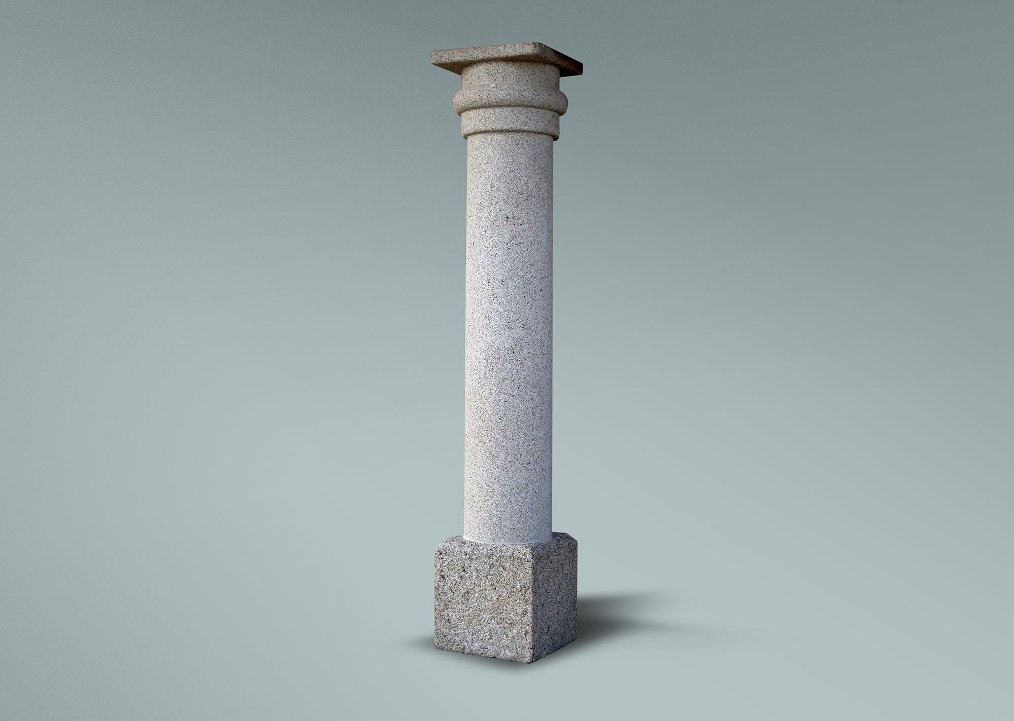 Columna redonda de granito