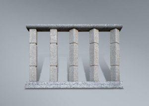 Balaustrada en granito abujardado
