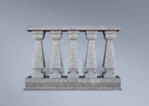 Balaustrada de granito chorreado