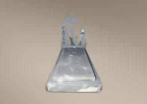 Panteón de granito gris