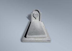 Panteón de granito apomazado