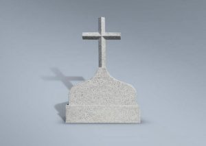 Frente de panteón con cruz