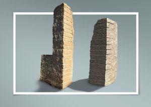 Monolitos rústicos de granito