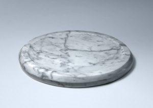 Bandeja plana de mármol