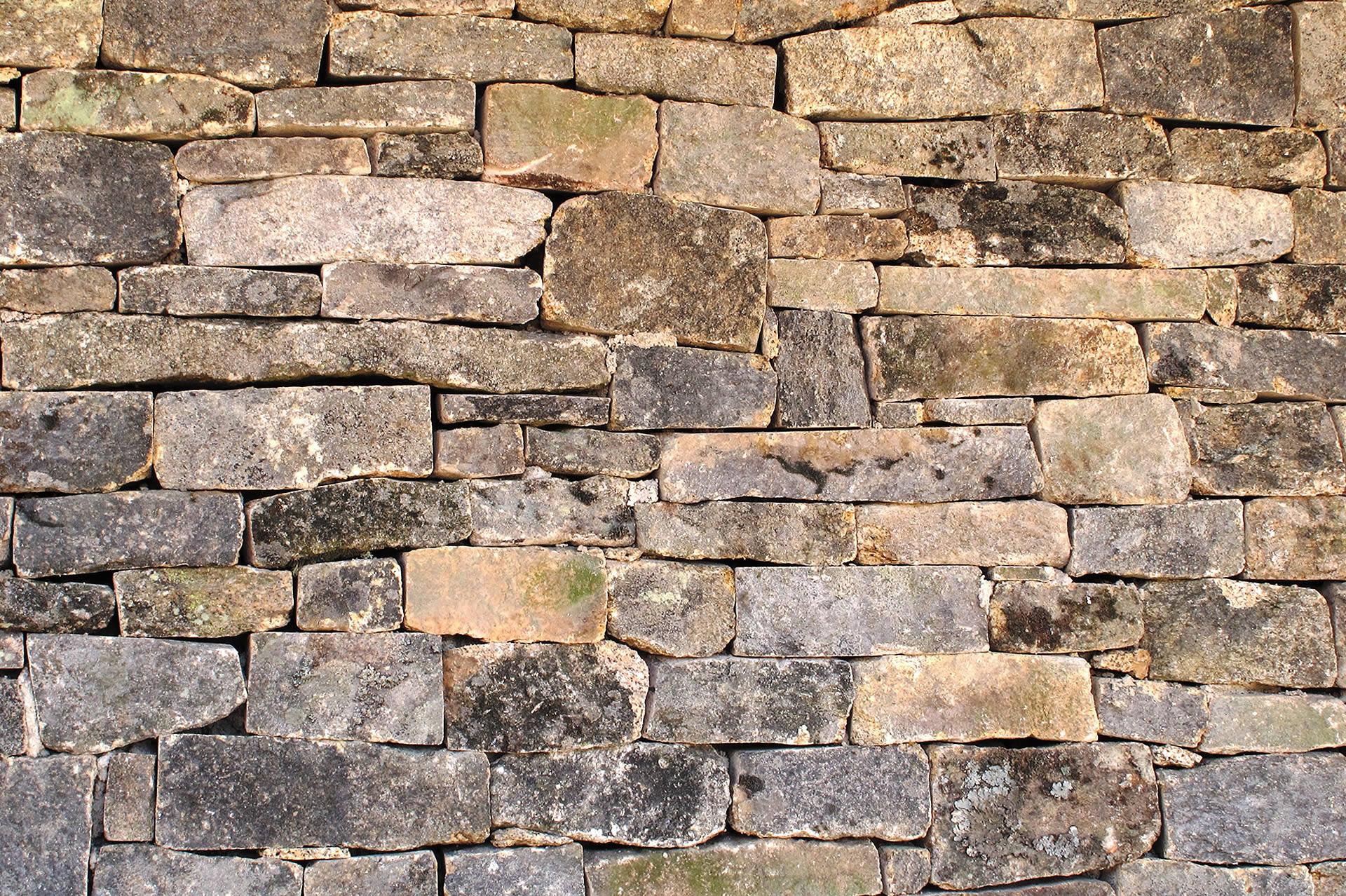 Muro de piedra vieja junta seca arteroca - Muros de piedra ...