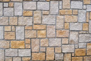 Muro piedra desconcertada regular