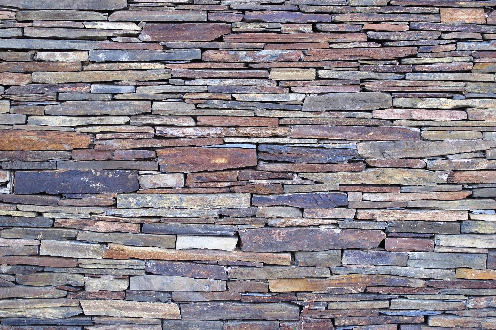 Muro de pizarra en lajas