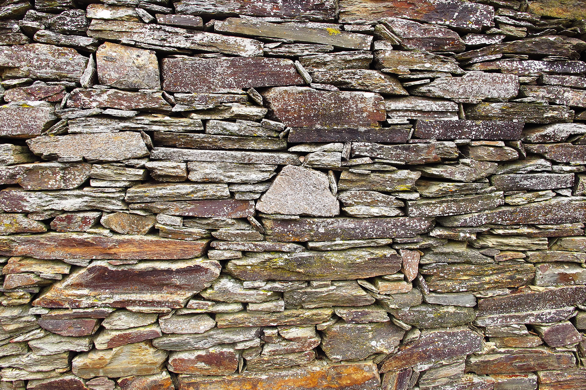 Muro de pizarra rústico