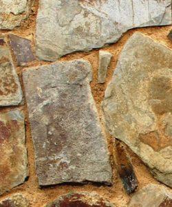 Muestra de muro irregular en pizarra